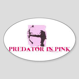 Predator in Pink Sticker (Oval)