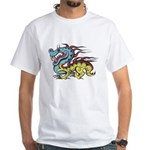 Impko White T-Shirt Chinese Dragon