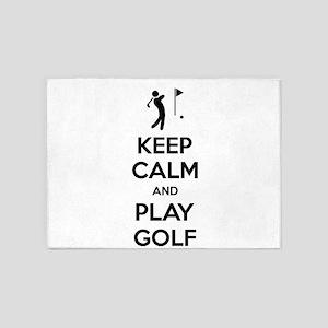 Keep Calm And Play Golf 5'x7'Area Rug