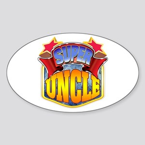 Super Uncle Sticker (Oval)