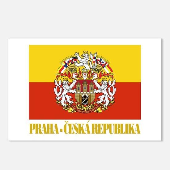 Praha (Prague) Flag Postcards (Package of 8)