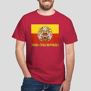 Praha (Prague) Flag Dark T-Shirt