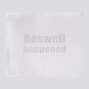 Roswell happened Throw Blanket