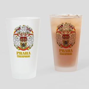 Praha (Prague) COA Drinking Glass