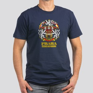 Praha (Prague) COA Men's Fitted T-Shirt (dark)