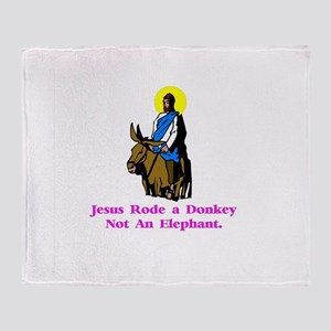 Jesus Rode A Donkey Gifts Throw Blanket