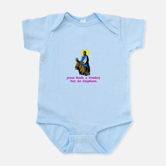 Jesus Rode A Donkey Gifts Infant Bodysuit