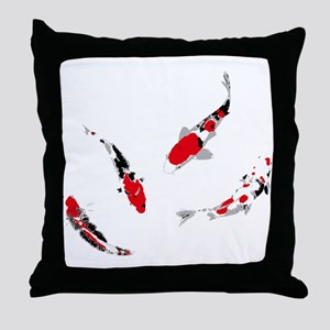 Varicolored carps Throw Pillow