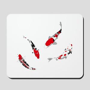 Varicolored carps Mousepad