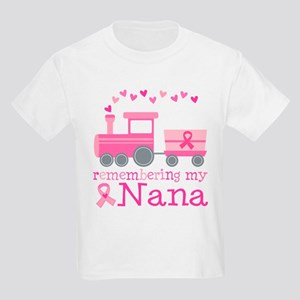 Pink Ribbon Remembering Nana Kids Light T-Shirt