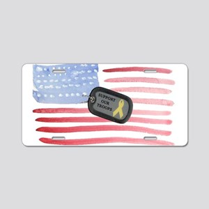 Support Our Troops Aluminum License Plate