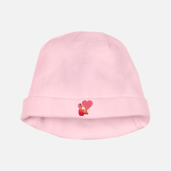 Rosie the Riveter Breast Cancer baby hat