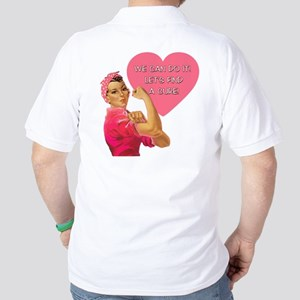 Rosie the Riveter Breast Cancer Golf Shirt