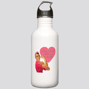 Rosie the Riveter Breast Cancer Stainless Water Bo