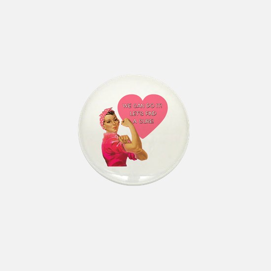 Rosie the Riveter Breast Cancer Mini Button