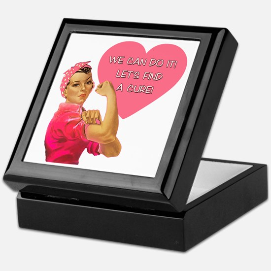 Rosie the Riveter Breast Cancer Keepsake Box