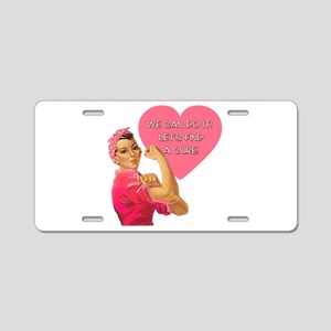 Rosie the Riveter Breast Cancer Aluminum License P