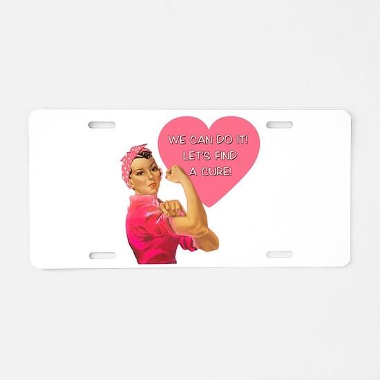 Rosie the Riveter Breast Cancer Aluminum License P