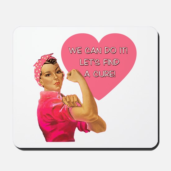 Rosie the Riveter Breast Cancer Mousepad