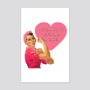 Rosie the Riveter Breast Cancer Mini Poster Print