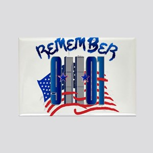Remember 9/11 - Twin Towers Rectangle Magnet