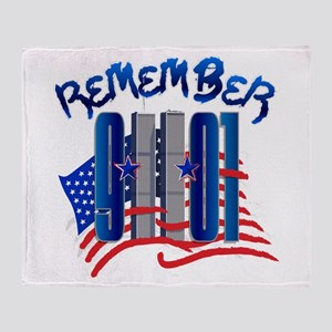 Remember 9/11 - Twin Towers Throw Blanket