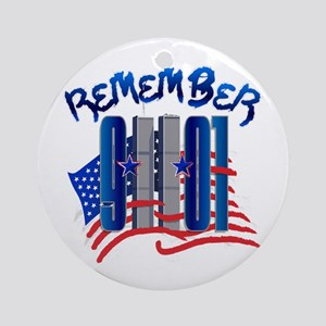 Remember 9/11 - Twin Towers Ornament (Round)