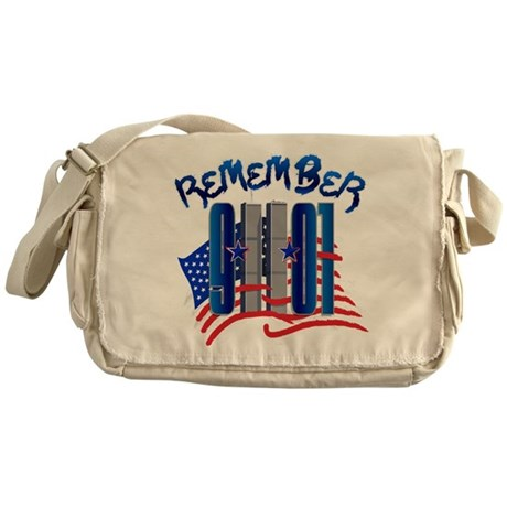Remember 9/11 - Twin Towers Messenger Bag