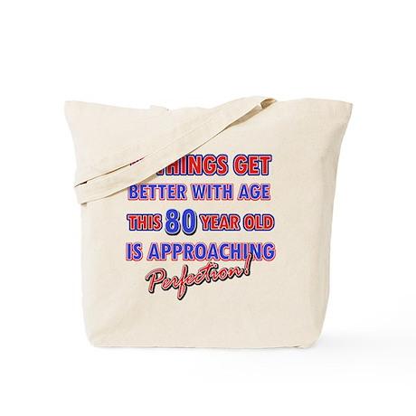 Funny 80th Birthdy designs Tote Bag