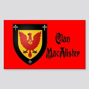 Clan MacAlister Sticker (Rectangle)