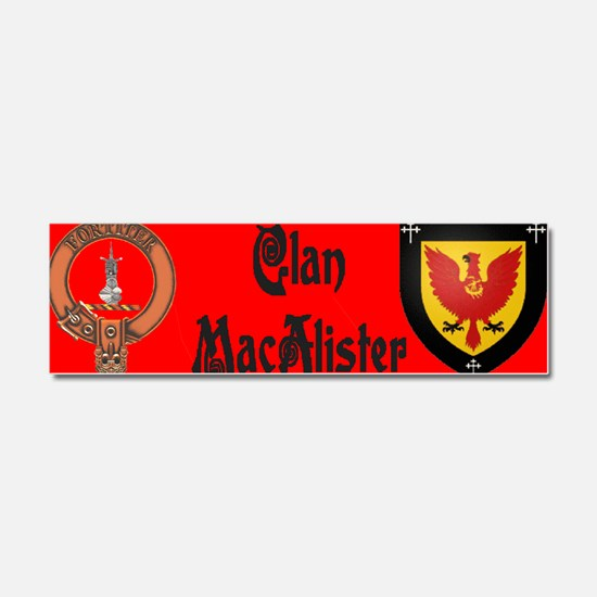 Clan MacAlister Car Magnet 10 x 3