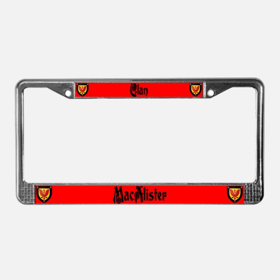 Clan MacAlister License Plate Frame