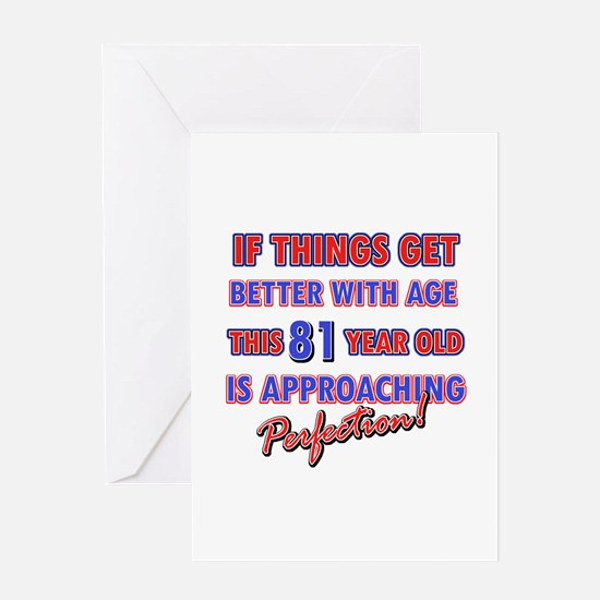 Funny 81st Birthdy designs Greeting Card