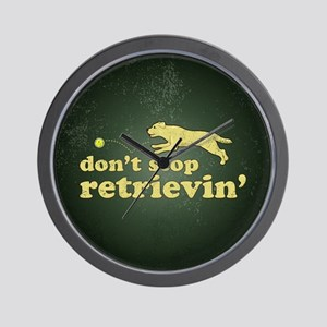 Don't Stop Retrievin' Wall Clock