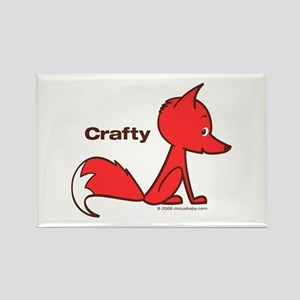 Crafty Fox Rectangle Magnet