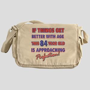 Funny 84th Birthdy designs Messenger Bag