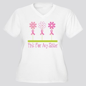 Pink Ribbon For My Sister Women's Plus Size V-Neck
