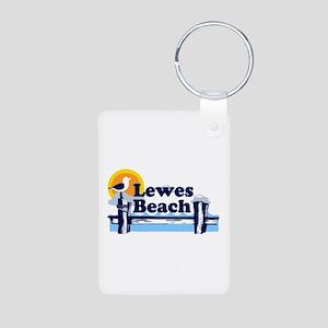 Lewes Beach DE - Pier Design. Aluminum Photo Keych