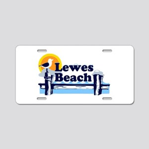 Lewes Beach DE - Pier Design. Aluminum License Pla