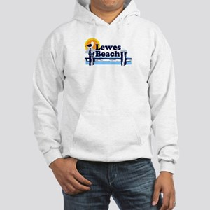 Lewes Beach DE - Pier Design. Hooded Sweatshirt