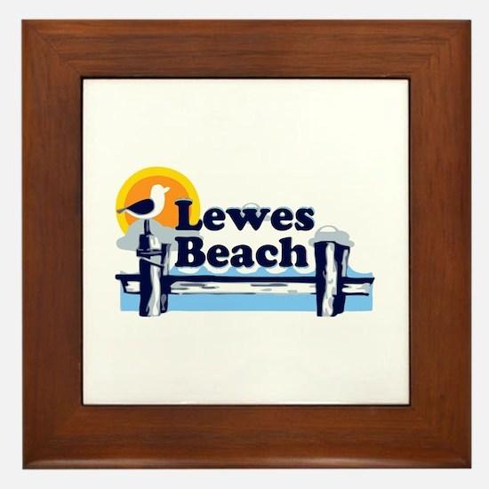 Lewes Beach DE - Pier Design. Framed Tile