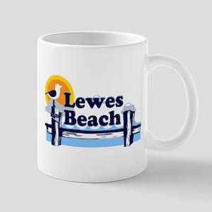 Lewes Beach DE - Pier Design. Mug