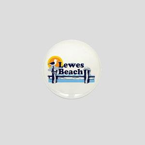 Lewes Beach DE - Pier Design. Mini Button