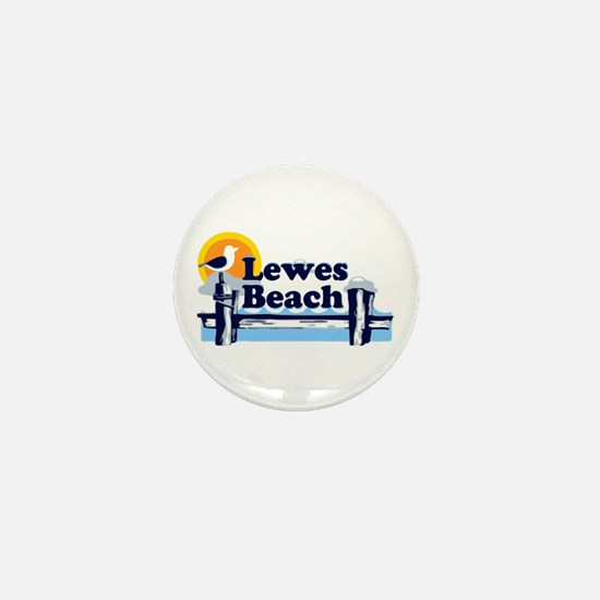 Lewes Beach DE - Pier Design. Mini Button