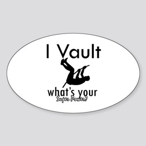 I Vault what's your superpower? Sticker (Oval)