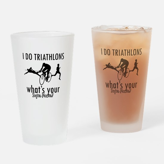 I Triathlons what's your superpower? Drinking Glas