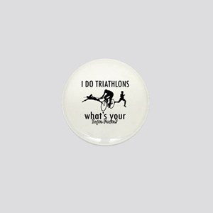 I Triathlons what's your superpower? Mini Button
