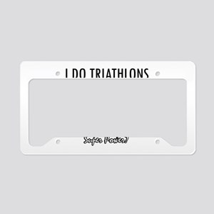 I Triathlons what's your superpower? License Plate