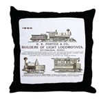 H K Porter & Company, 1890 Throw Pillow