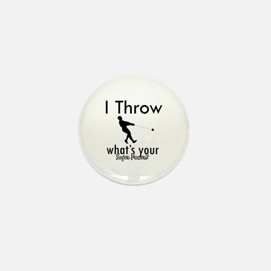 I Throw what's your superpower? Mini Button